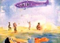 Flood-hit Barmer captured on canvas