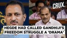 Adhir Ranjan Chowdhury calls BJP's Ananthkumar Hegde 'Ravana ki Aulad'