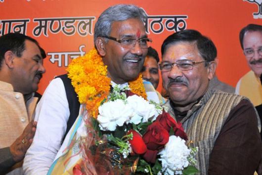 File photo of Uttarakhand CM Trivendra Singh Rawat (PTI)
