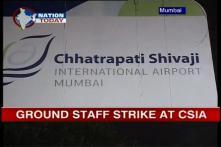 Mumbai airport ground staff on strike