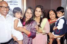 Snapshot: Vidya Balan's sister Priya, mother Saraswathy join her for 'Bobby Jasoos' trailer launch