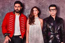 Flanked by the Best Boys: Shweta, Abhishek Bachchan on Koffee with Karan