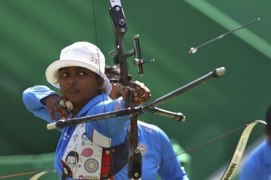 Deepika Kumari once again disappointed at the Rio Olympics. (Photo credit: Reuters)