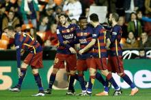 Barcelona enter Copa del Rey final with a record in Valencia clash