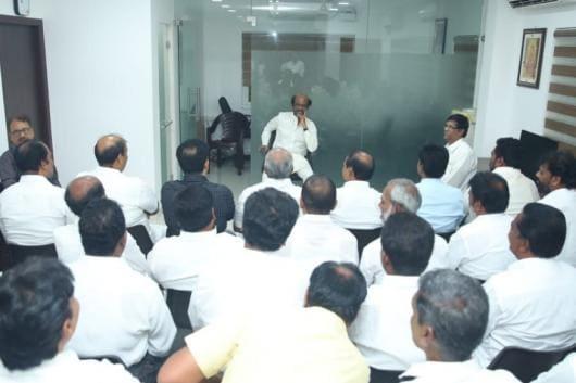 Image result for rajini meeting