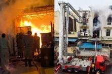 PHOTOS: Fire Breaks Out at Paper Factory in Delhi's Patparganj