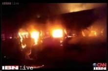 Watch: Footage of fire on Bandra-Dehradun Express