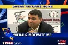 Gagan Narang returns home to a rousing welcome