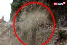 Monsoon Rain Triggers Landslide in Mussoorie
