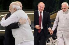 PM Narendra Modi Welcomes Vladimir Putin With a Hug