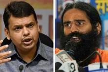 Centre distance itself from Fadnavis, Ramdev on 'Bharat Mata ki Jai' remarks