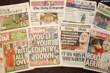 British tabloids rip apart 'awful' England