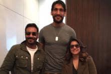 Ajay Devgn, Kajol Meet NBA Player Satnam Singh
