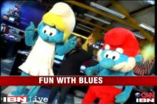 Watch: Smurfs in CNN-IBN Newsroom