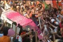 Amit Shah Reaches BJP Office