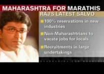 Raj demands 80 per cent job quota for Marathi manus