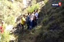 Cliffhanger! Miraculous Escape for Passengers as Bus Carrying 30 People Hangs from Edge of Hill Road