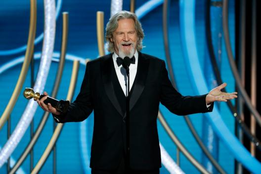 Jeff Bridges accepting the Cecil B. Demille Award during the 76th Annual Golden Globe Awards in Beverly Hills, California. (Image: AP)