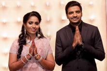 Kollywood Star Sathish & Sindhu's Starry Wedding Reception; PICS