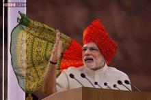 Modi calls for peace, development; opposition terms it visionless speech