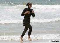 Beach shift in a burqa-cum-bikini