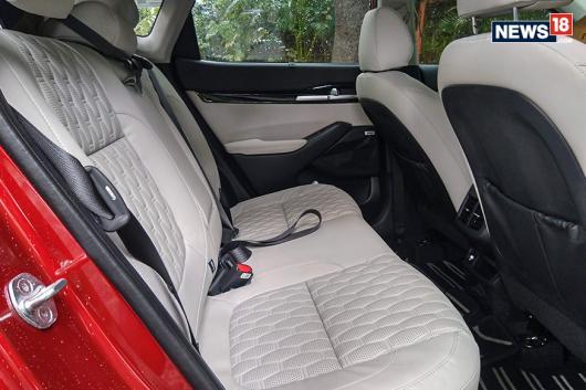 Kia Seltos rear seats. (Image: Arjit Garg/News18.com)
