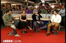 e Lounge: Team 'Happy Ending' in CNN-IBN newsroom
