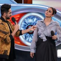 Salman welcomes Ayushmann and Tabu on Bigg Boss