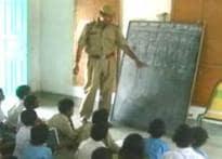 Cops turn teachers in Barmer
