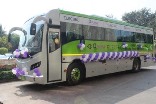 Electric Bus between Mumbai and Pune. (Image: ANI)