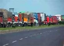 Singur dharna: Trucks stranded for 4 days on NH2