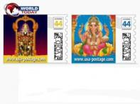 Hindu Gods in US custom-made postage stamps