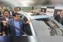Road Transport Minister Nitin Gadkari Drives the MG ZS Electric SUV in India