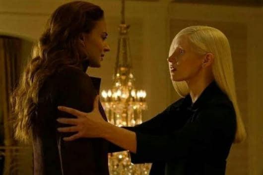 Sophie Turner and Jessica Chastain in a still from X-Men: Dark Phoenix.