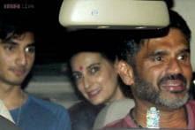 Karan Johar, Alia Bhatt, Siddharth Malhotra attend the special screening of Salman Khan's 'Kick'