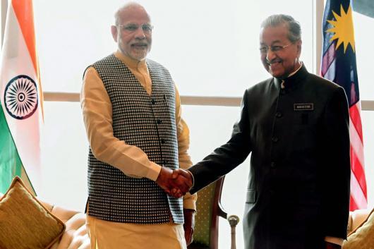 File photo of PM Narendra Modi and Malaysian PM Mahathir Bin Mohamad