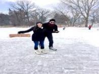 Sunny Leone celebrates Valentine's Day with husband; goes ice skating, eats donuts