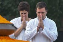 Rajiv Gandhi 75th Birth Anniversary: Congress Leaders Pay Tribute at Veer Bhumi