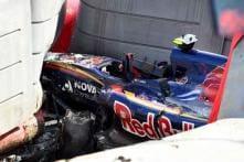 Formula One driver Carlos Sainz hoping to race despite big crash at Russian GP