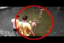 Caught on Camera: Youth Try to Drown Cop During Ganpati Visarjan
