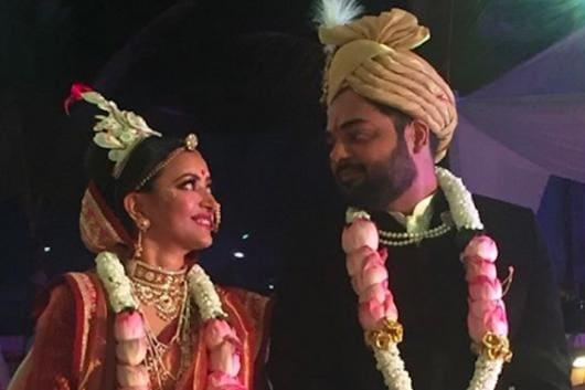 Actor Shweta Basu Prasad with husband Rohit Mittal. (Image: Instagram/Shweta Basu Prasad)
