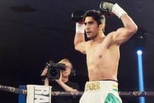 Images: Vijender Singh wins second professional bout, demolishes Dean Gillen