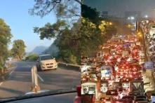 From Hills to Mumbai Traffic, Twitter Comes Together to Share 'RoadToWork' Pictures