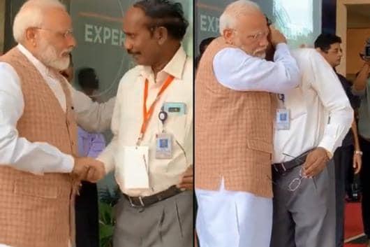 The Internet Got Teary-Eyed Watching PM Modi Hug ISRO Chief After Chandrayaan 2 Failure