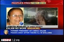Abdul Kalam is the most beloved person of India even today: Sumitra Mahajan
