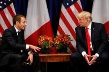 Trump Praises Macron, Considers July 4 Military Parade Like One he Saw in Paris