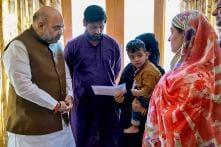 Amit Shah Visits Family of Slain Policeman in Srinagar - PHOTOS