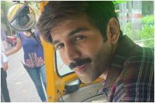 Kartik Aaryan Enjoys Lucknow's Street Food Sitting in Auto Rickshaw, See Pic