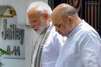 PM Modi, Amit Shah Meet Arun Jaitley's Family to Offer Condolences