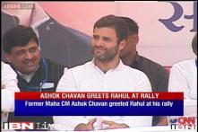 Rahul campaigns against corruption, shares stage with Ashok Chavan